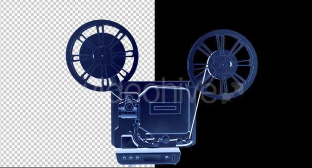 16MM Film Projector - 3D Outline