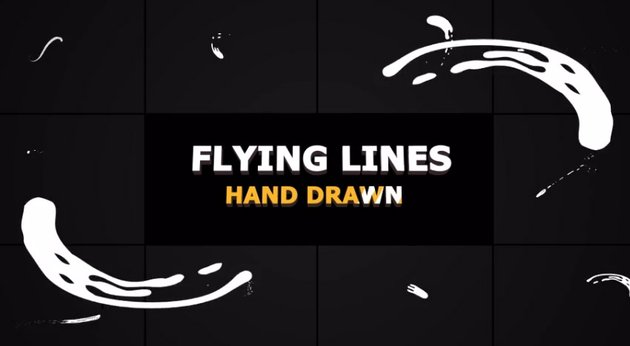 Hand Drawn Flying Lines