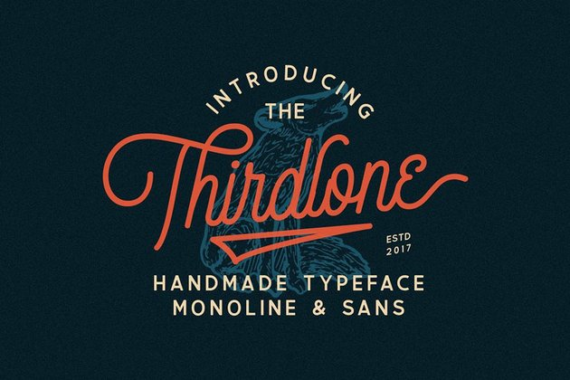 Thirdlone Font Duo  Vector Pack