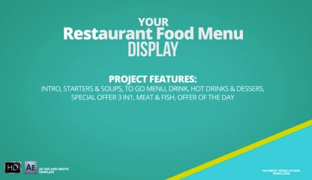 Favorite Restaurant Display