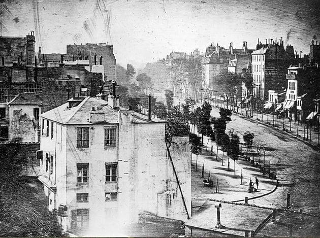 Boulevard du Temple is by Louis Daguerre