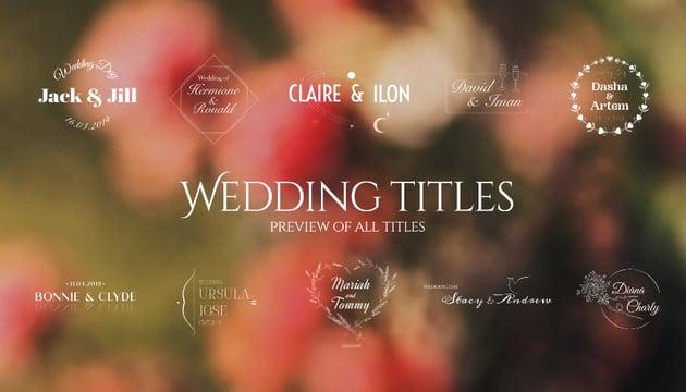 50 Wedding Titles  Essential Graphics  Mogrt