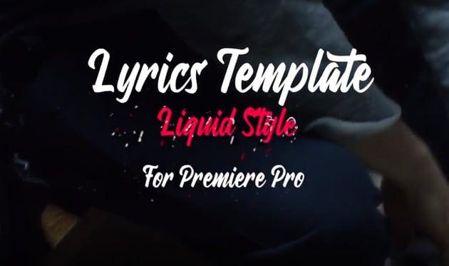 Lyrics Template Liquid Style For Premiere Pro