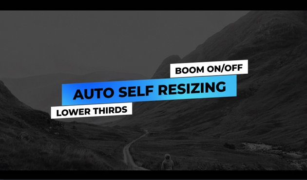 Auto Resizing Lower Thirds