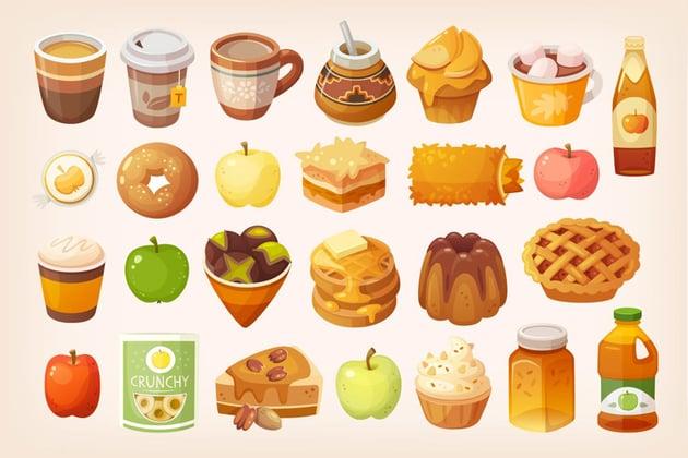 Autumn food - Icons