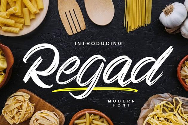 Regad Modern Food - Font