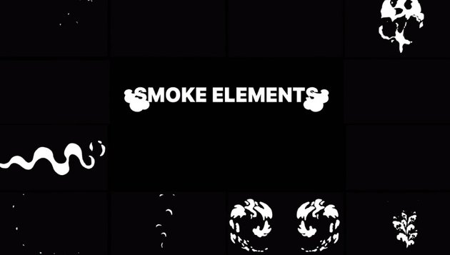 2D FX Smoke Elements  After Effects