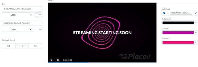 Twitch Starting Soon Screen Video Maker with Animated Wavy Lines