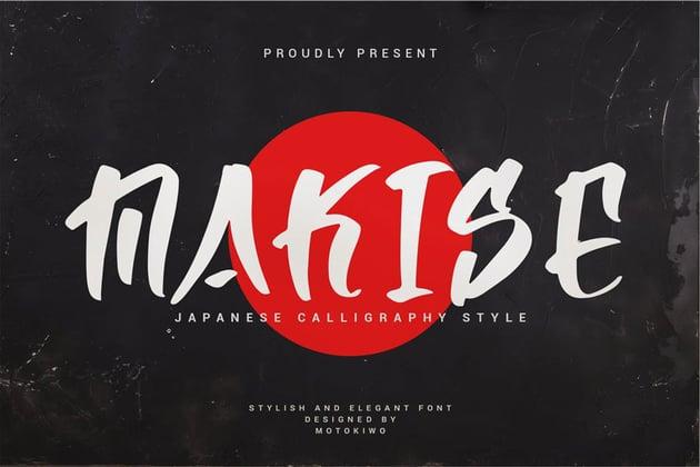 Makise - Japan Calligraphy Style