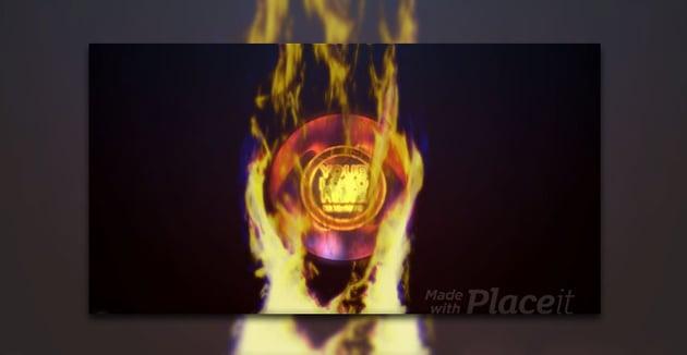 Flaming Logo Reveal