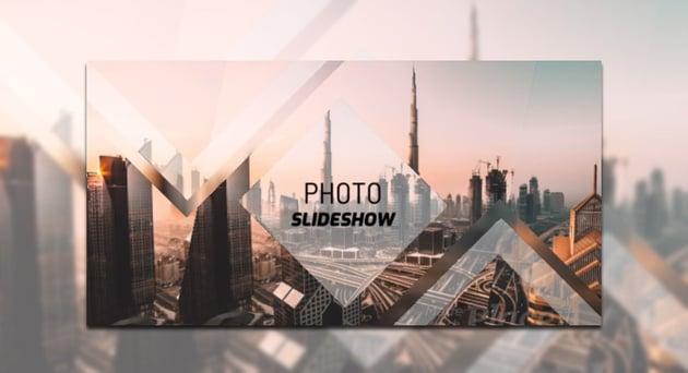 Dynamic Photo Slideshow Video Maker with Minimal Geometric Transitions