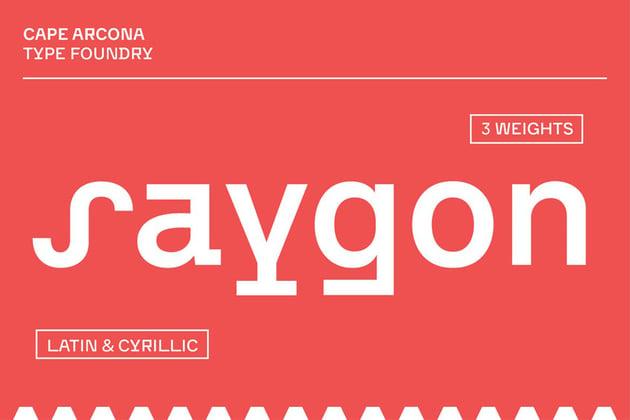 CA Saygon  Font