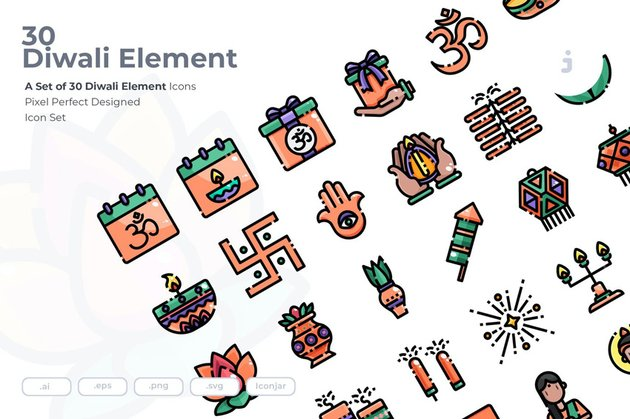 30 Diwali Icons