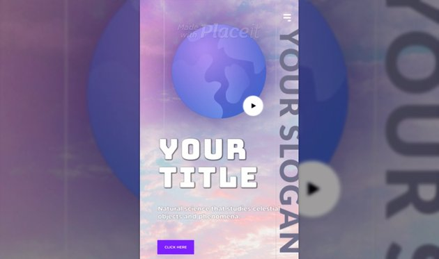 Instagram Story Video Creator with a Graphic of the World