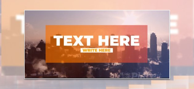 Slideshow Video Template for Color Filters and Text Animations