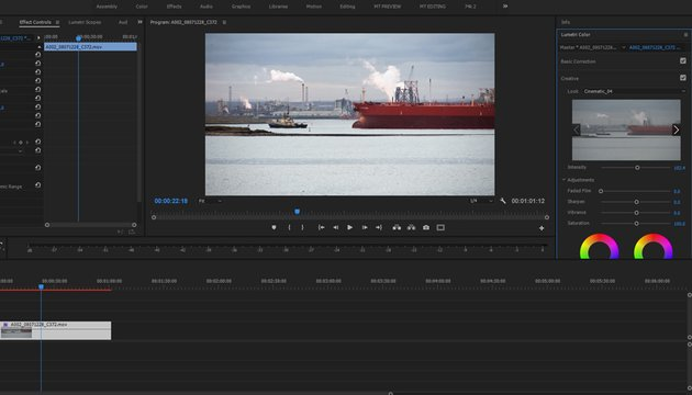 The LUT is applied