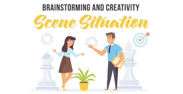 Brainstorming and creativity - available from Envato Elements