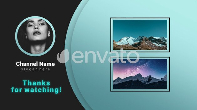 YouTube Endscreens available from Envato Elements
