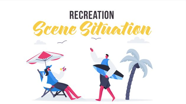 Recreation scene animation - available from Envato Elements