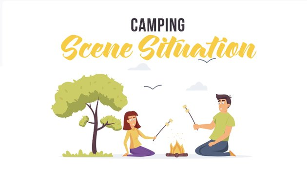 Camping scene situation - available from Envato Elements