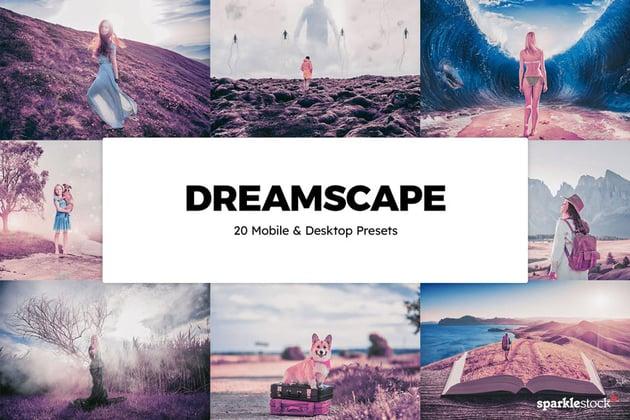 20 Dreamscape Lightroom Presets & LUTs