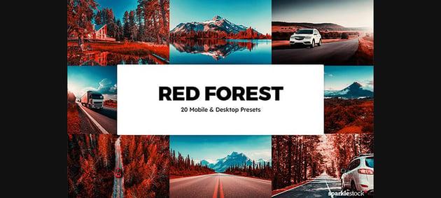 20 Red Forest Lightroom Presets & LUTs