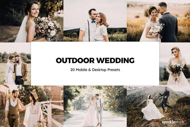 20 Outdoor Wedding Lightroom Presets & LUTs