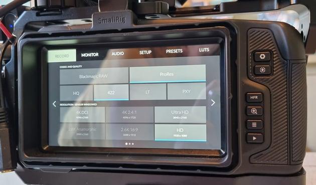 Blackmagic Pocket Cinema Camera 4k Internal Settings
