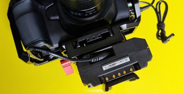 V-Lock Battery on the Blackmagic Pocket Cinema Camera 4K
