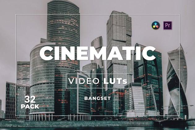 Bangset Cinematic Pack 32 Video LUTs