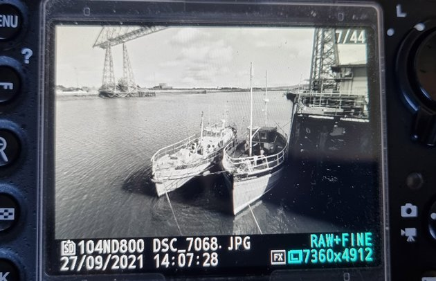 The thumbnail in camera shows the applied profile