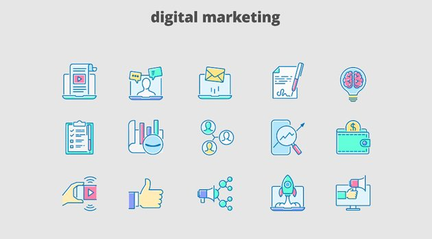 Digital Marketing - Filled Outline Animated Icons