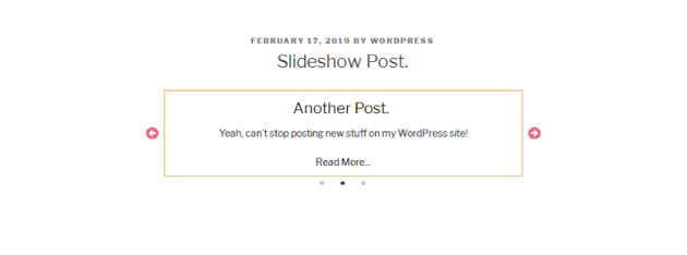 Basic post slider