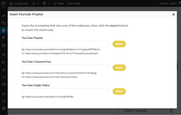 Embed Button Popup