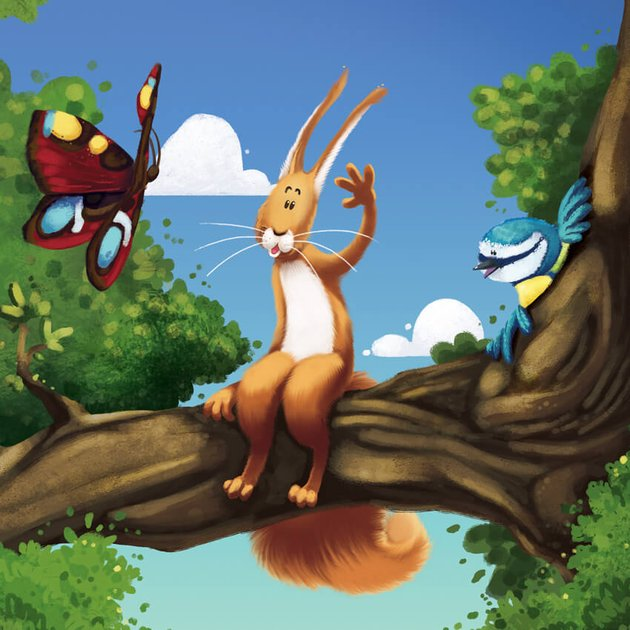 Ruan The Little Red Squirrel Wave