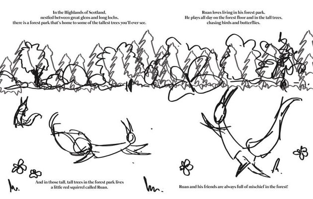 Ruan The Little Red Squirrel Text Layout Sample