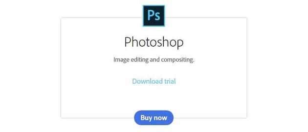 Adobe Photoshop CC Trial Download Window Screenshot