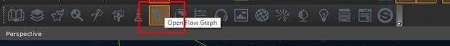 Open Flow Graph through the Editor toolbar