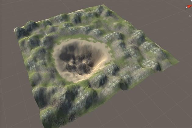 Paint Texture - Preliminary textured terrain