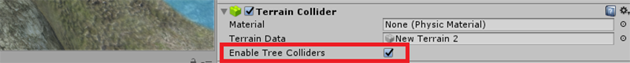 Paint Tree - Terrain Collider
