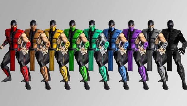 Mortal Kombat ninjas