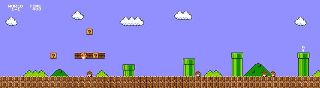 Mario 1-1 level