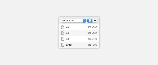 Paper sizes for Artboards in Sketch