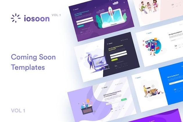 Iosoon Vol1 - Stunning Coming Soon Template