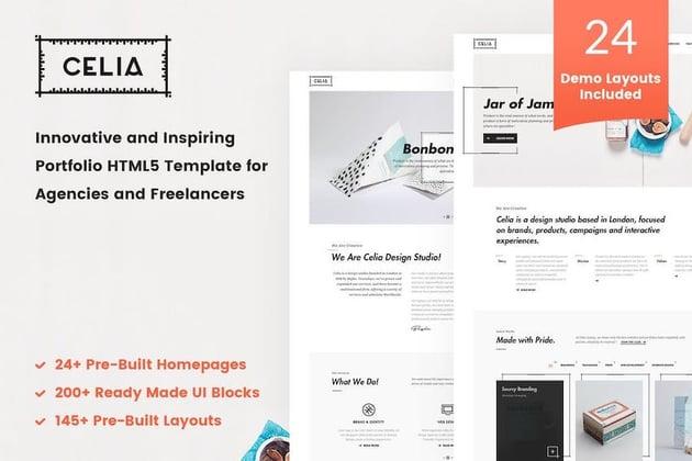 Celia - Innovative Portfolio HTML5 Template