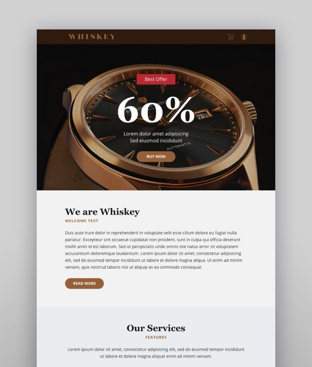 Whiskey Email-Template  Online Builder