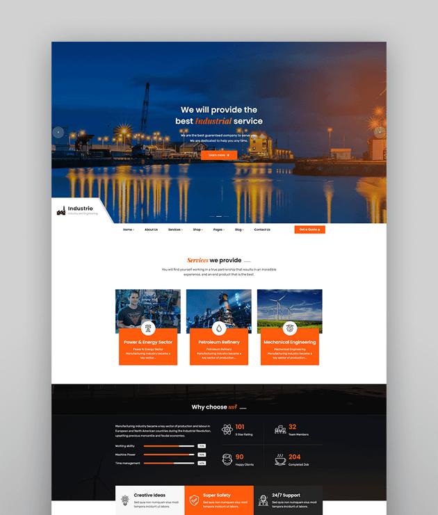 Industrial - Industry  Factory WordPress