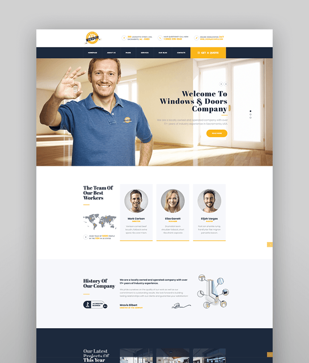 Windor  Windows Manufacturing WordPress Theme