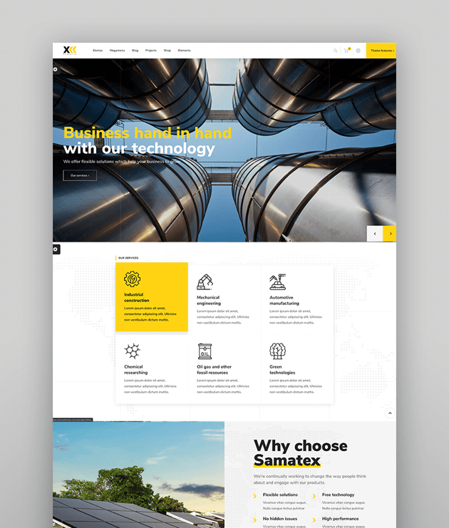 Samatex - Industrial WordPress Theme  Woocommerce