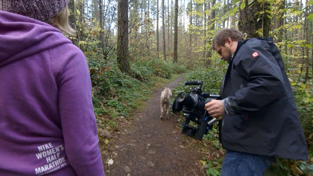 Walking in front of a subject with a gimbal